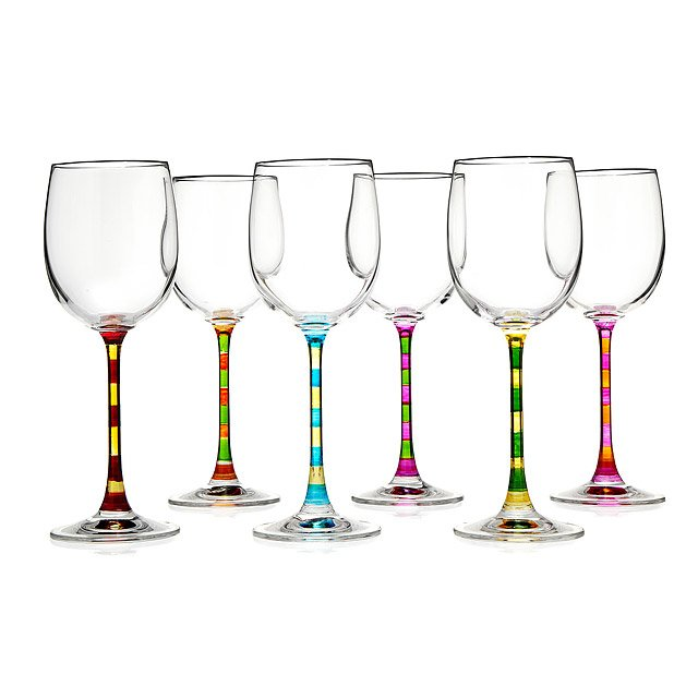 Capri Hand Painted Wine Glasses