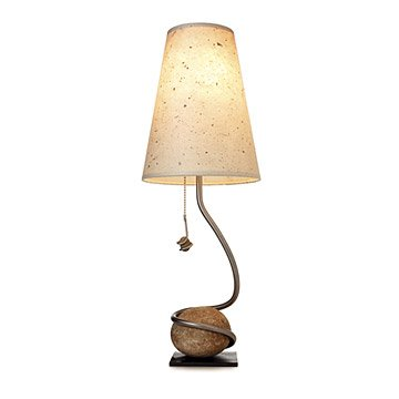 Handmade Rock and Vine Lamp