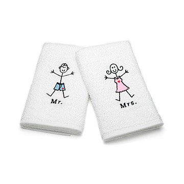 Mr. And Mrs. Hand Towel Set
