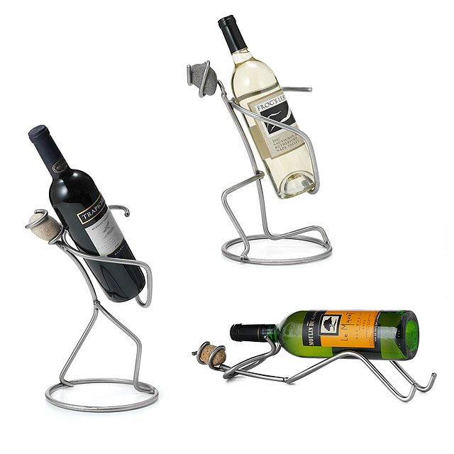 Steel and Stone Man Wine Holders