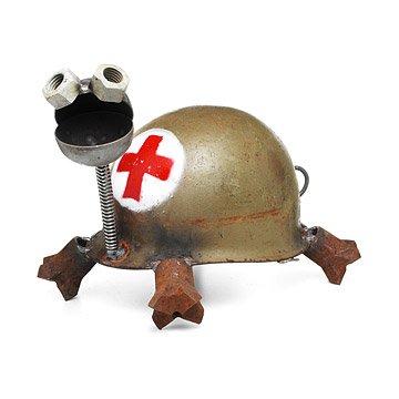 Turtle Helmet Sculpture