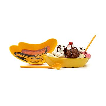 andy warhol banana split dishes - set of 2