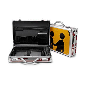 Recycled Street Sign Briefcase