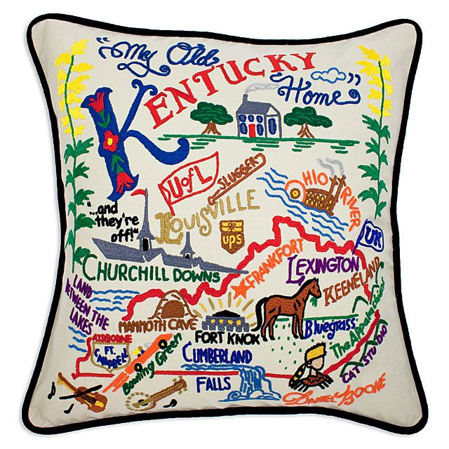 Hand Embroidered State Pillows 5