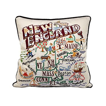 Hand Embroidered Region Pillows