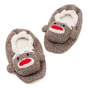 Adult Sock Monkey Slippers