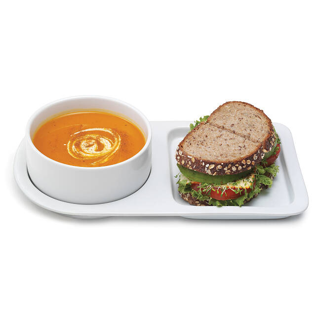 Soup And Sandwich Ceramic Tray Duo 2