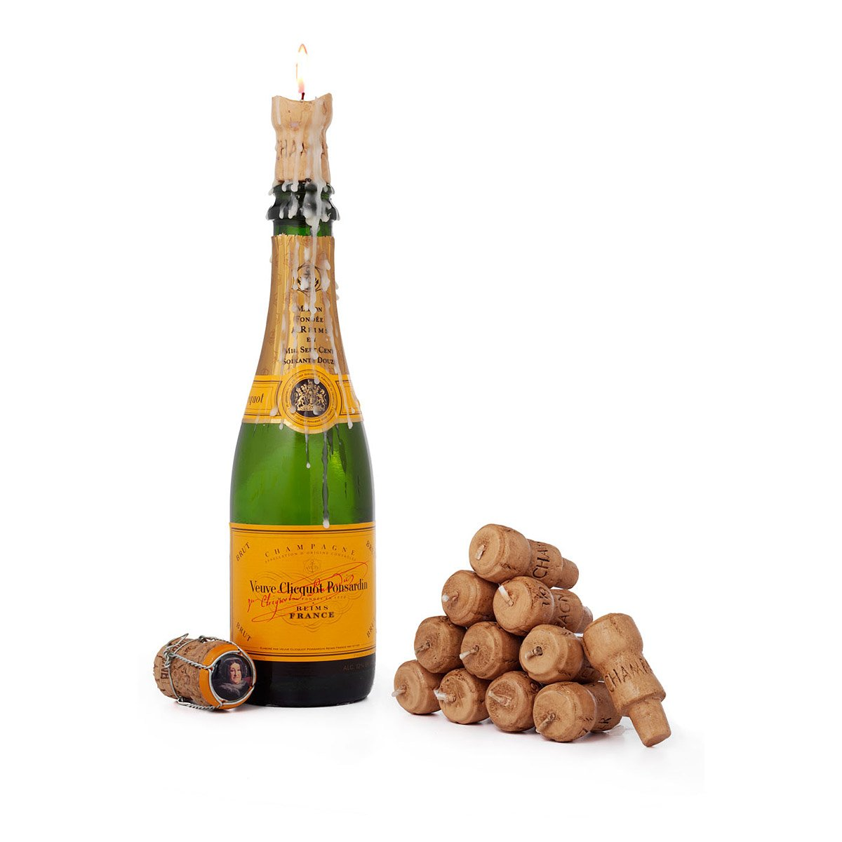 Cork Candles: Champagne Cork Candles - Set Of 12