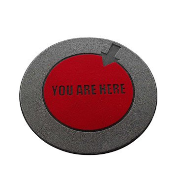 'You Are Here' Floor Mat