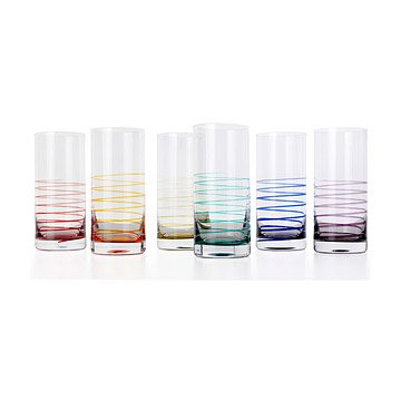 roxy highball glasses - set of 6