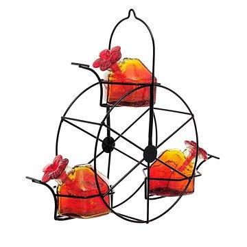 Red Ferris Wheel Hummingbird Feeder