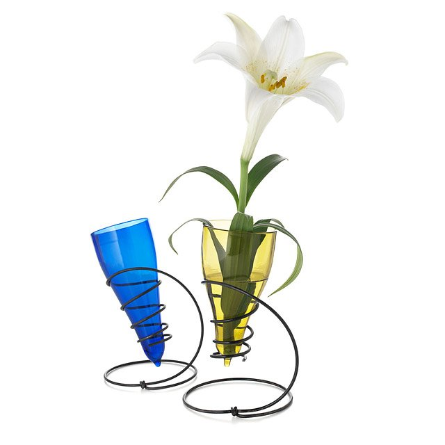 Recycled Bottle Spring Vases