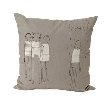 Rain Organic Cotton and Hemp Pillow
