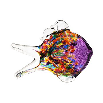 Hand Blown Recycled Glass Fish