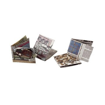 Recycled Newspaper Bi Fold Wallets