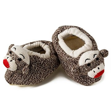 Toddler Sock Monkey Slippers