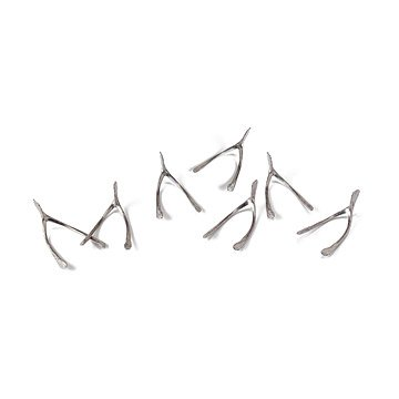 Handmade Pewter Wishbones - Set of 7