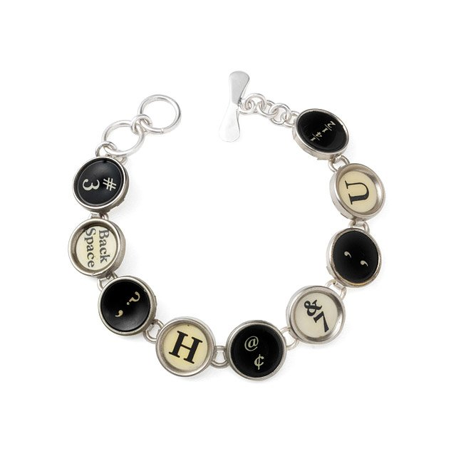 9 Key Typewriter Bracelet