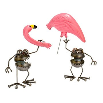Flamingo-Away Sculpture