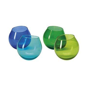 Hula Glasses - Set of 4 - Cool Colors