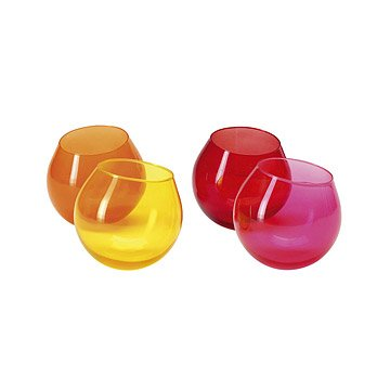 Hula Glasses - Set of 4 - Warm Colors