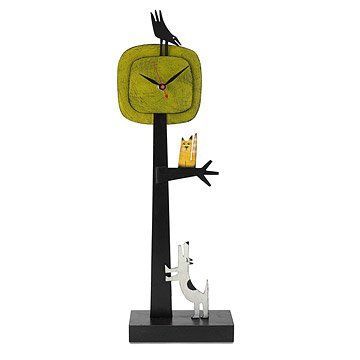 Barking Up A Tree Clock