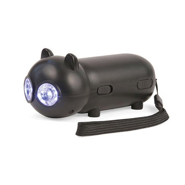 Black Cat Rechargeable Flashlight