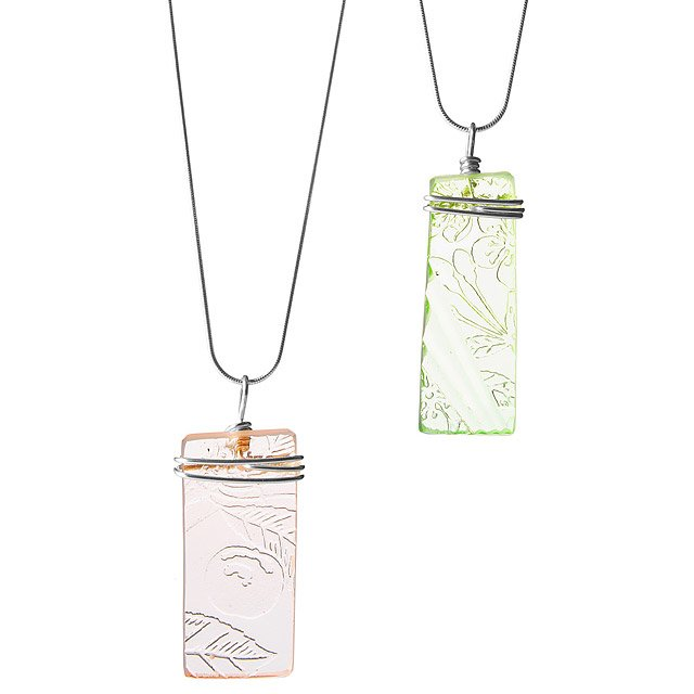 Depression Glass Necklace