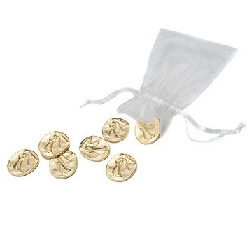 Gold Angel Coins - Set of 7
