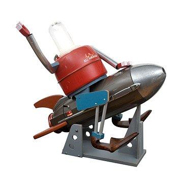 Rocketship Robot - Illuminated Sculpture