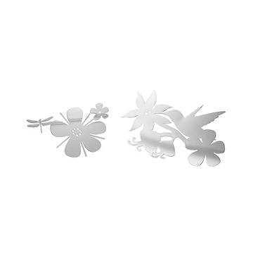 Daisy & Hummingbird Mirror Wall Decals