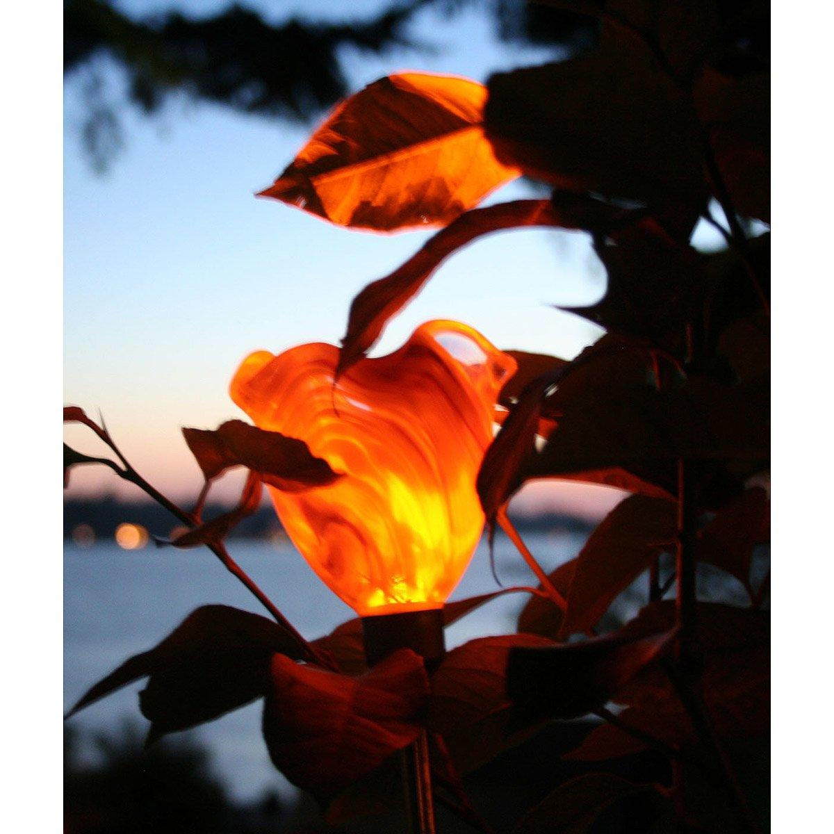 Solar Powered Poppy Garden Stakes 2 thumbnail