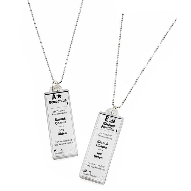 Official Democratic Ballot Necklace