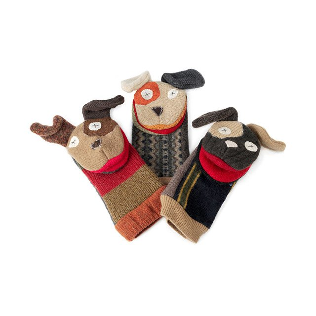 Reclaimed Wool Animal Puppets 2