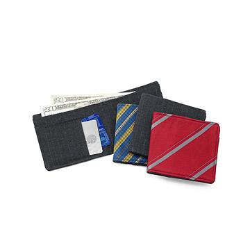 Recycled Necktie & Suit Wallet