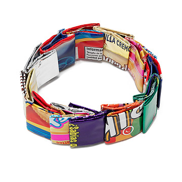 Chunky Candy Wrapper Bracelet