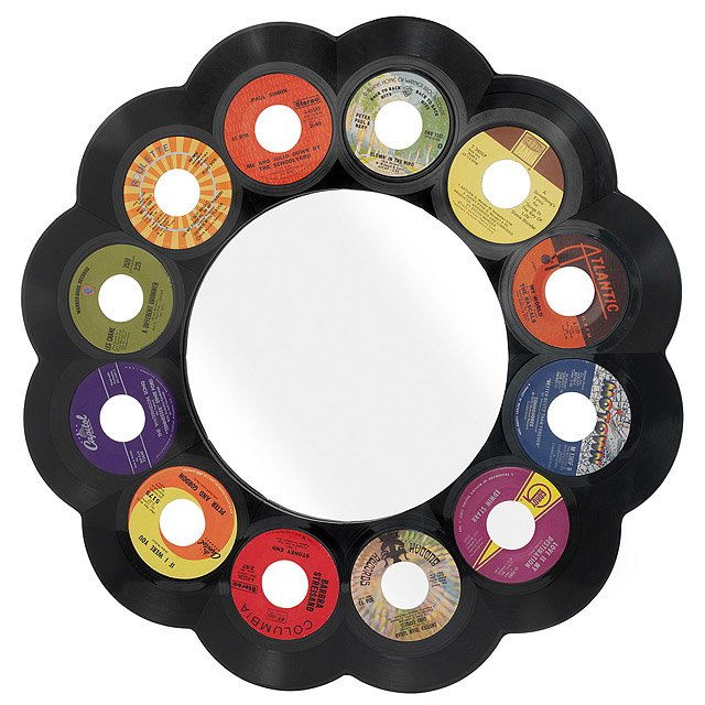 Reclaimed 45 rpm Record Mirror