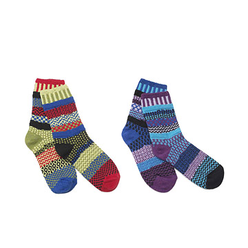 Mismatched Socks: Poppy & Grape