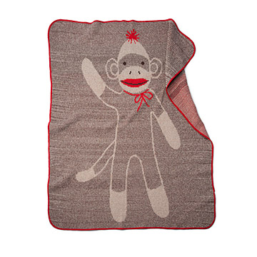 Sock Monkey Blanket