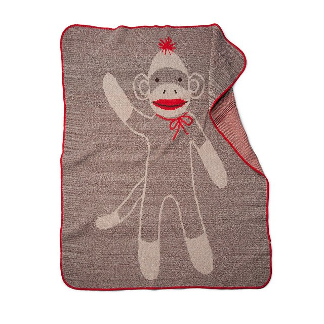 Sock Monkey Blanket