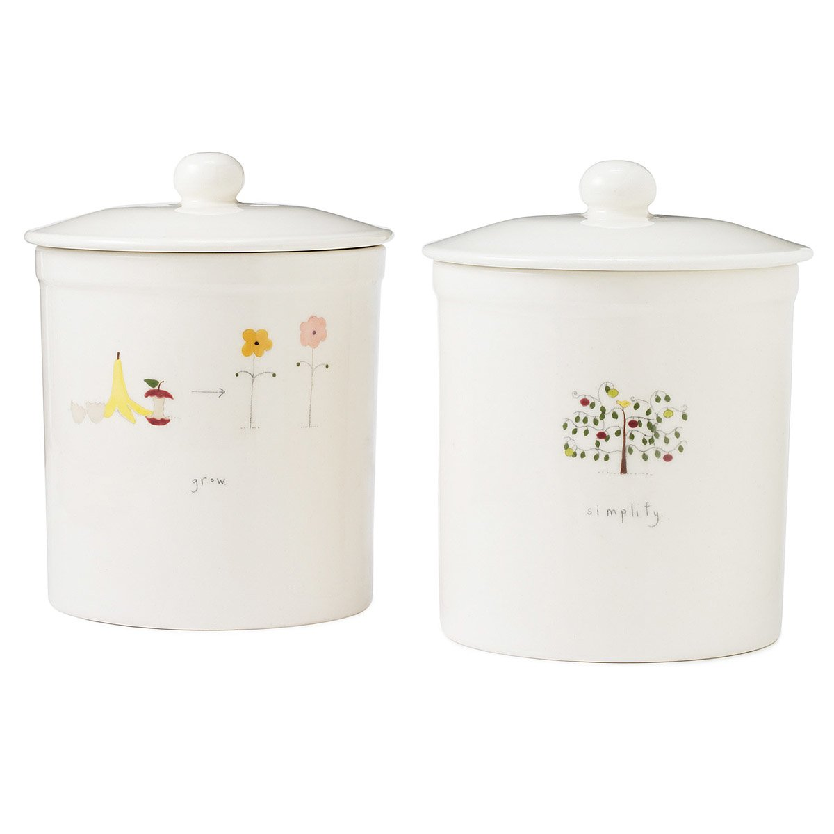 Countertop Compost : Ceramic Countertop Compost Container Compost Bin, Container, Crock ...