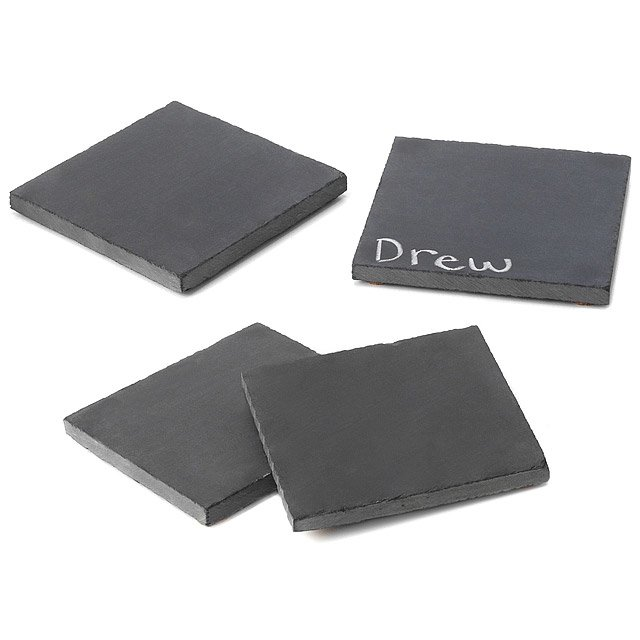 Reclaimed Slate Coasters - Set of 4