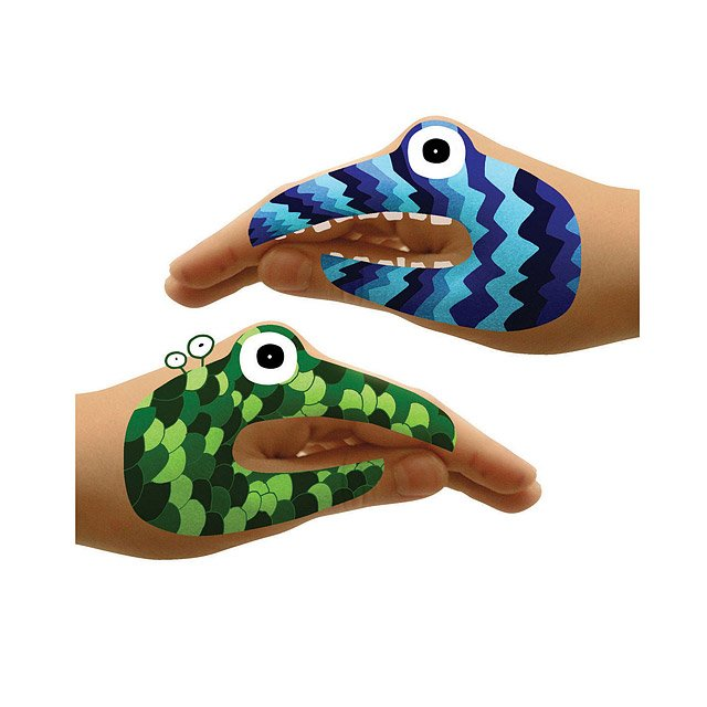 Animal & Monster Hand Tattoo Sets 9