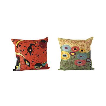 Artist Pillows: Miro & Klimt
