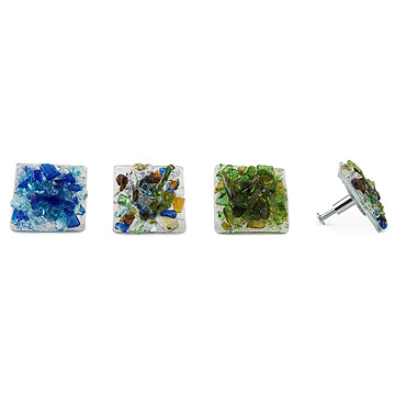 Glass Drawer Pulls or Cabinet Knobs