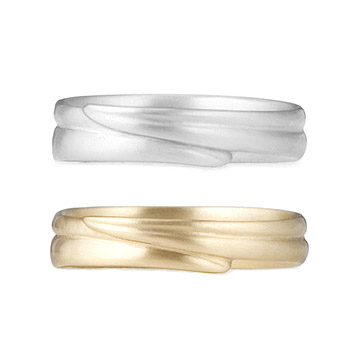 Women's Blade of Grass Wedding Band