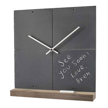 Reclaimed Slate Clock