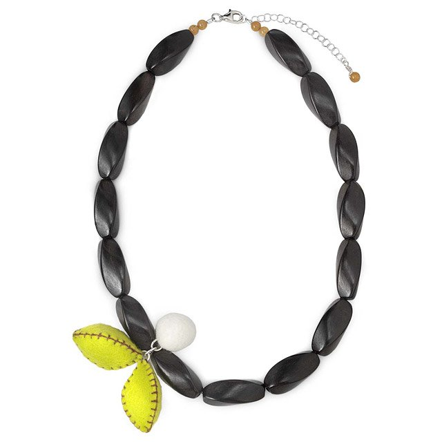 Berry & Pods Wood Necklace