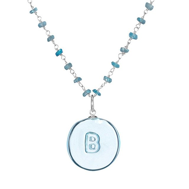 Glass Initial Necklace 2