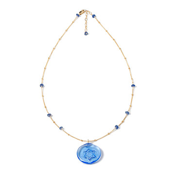 Glass Spirituality Necklace: Judaism